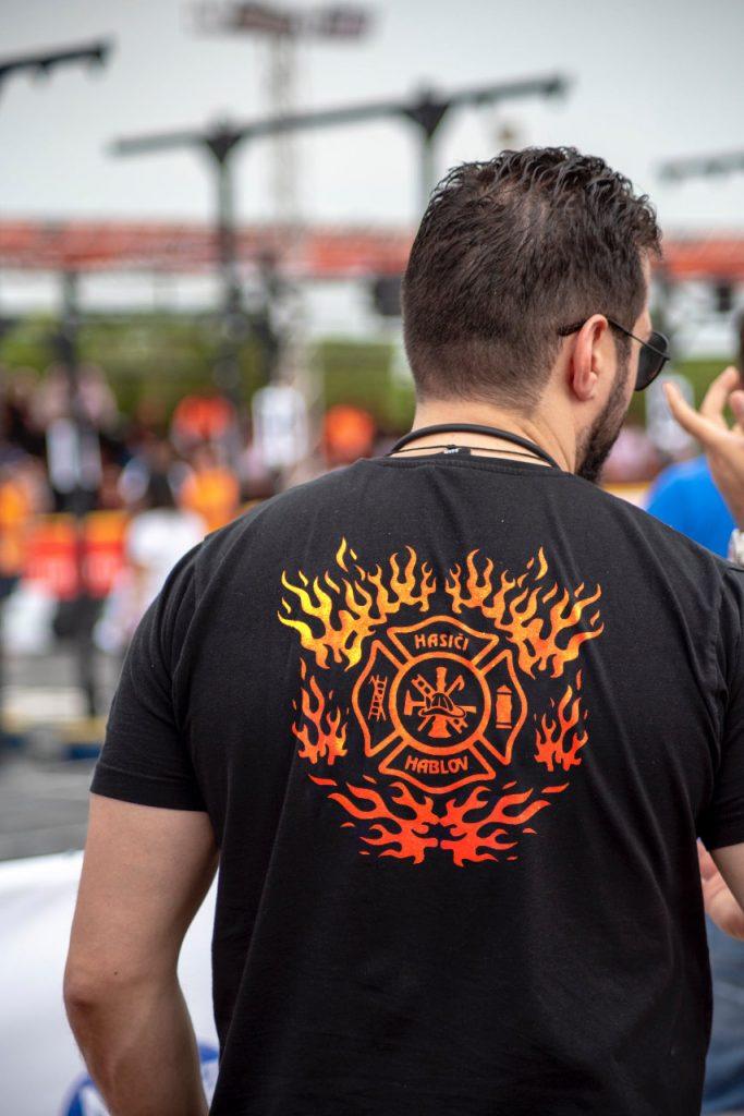 Obrázek potisku trička dobrovolných hasičů