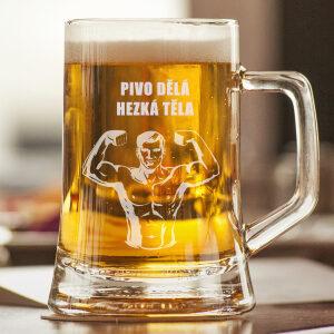 pivní sklenice s gravírováním